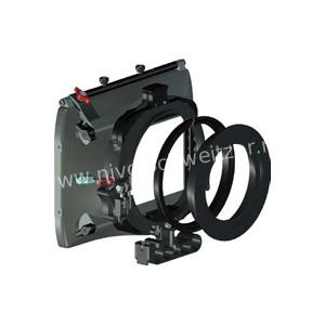 VOCAS 0255-2000 mattebox kit: MB-255 mattebox, 0320-0010 flex.ring en 0360-0100 adj.barsadapter