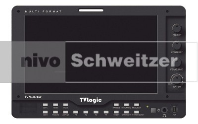 TVLOGIC LVM-074W 7 3Gb/Multi-Format LCD Monitor HD-SDI / HDMI