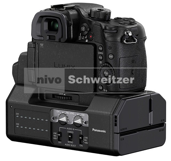PANASONIC DMC-GH4 kit [body, zwart + AG-YAGHG  interface-extension kit]