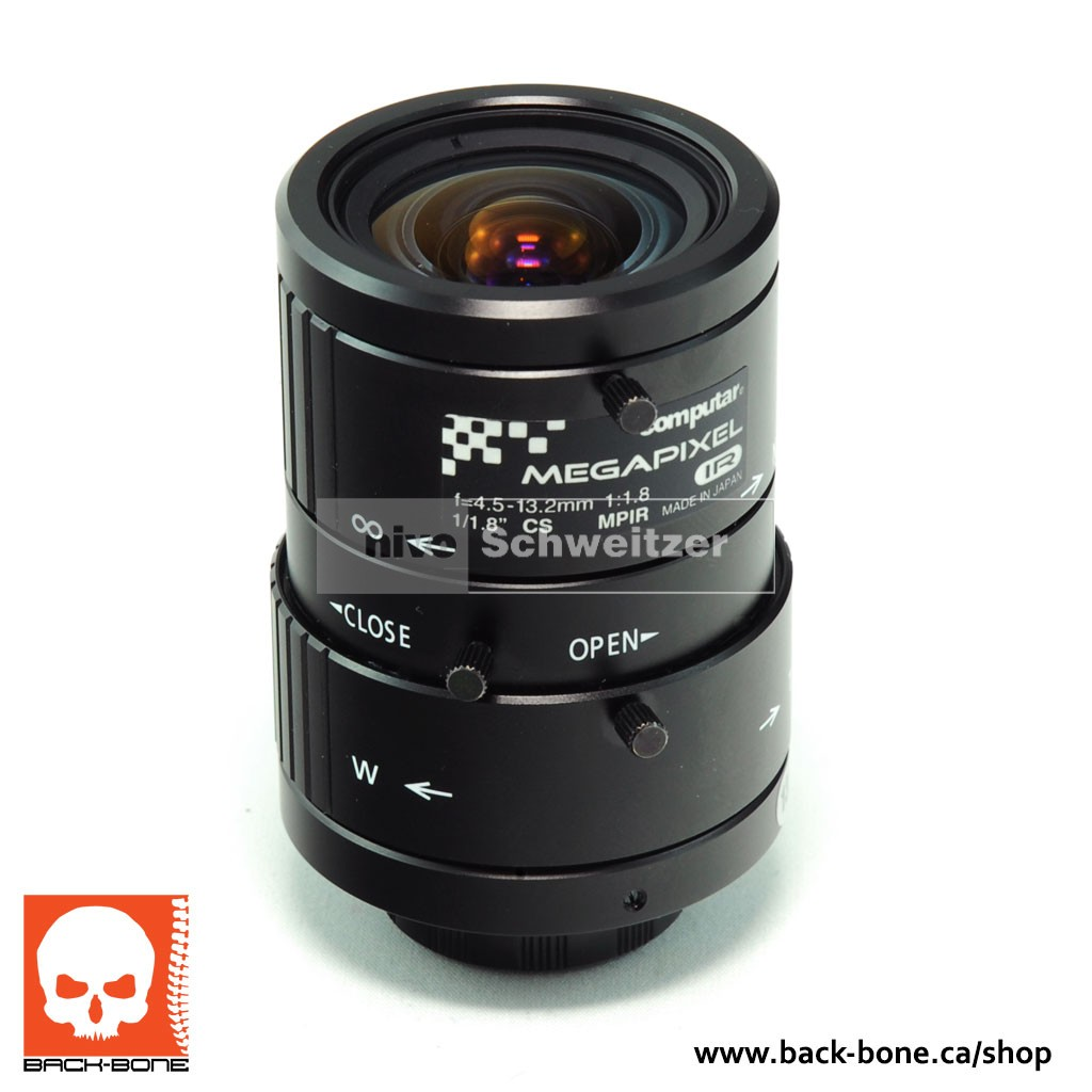 Computar 1/1.8 4.5 ? 13.2MM 5MP IR CS-Mount lens voor Back-Bone Ribcage (35Eq 25-75mm)