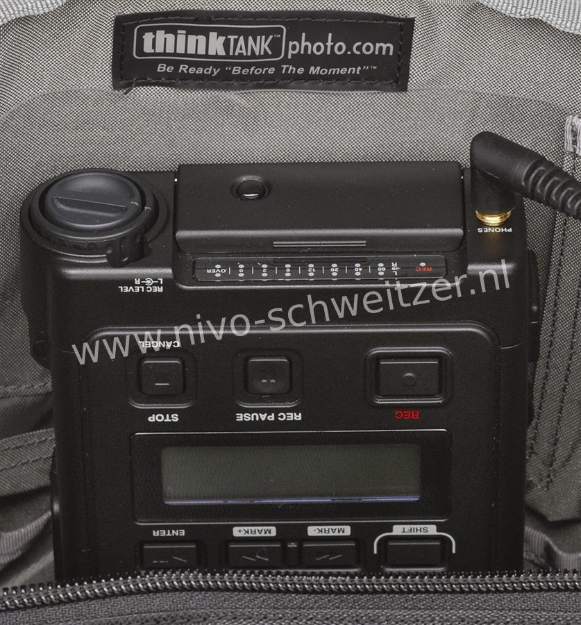 THINK TANK big audio tas voor audio opname apparatuur (groot)