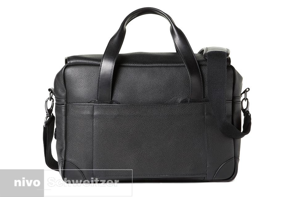 BARBER SHOP medium messenger Bob Cut [grained black leather]