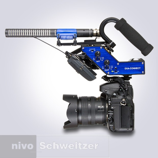 BeachTek DXA-CONNECT Active XLR/DSLR adapter met hot-shoe adapter
