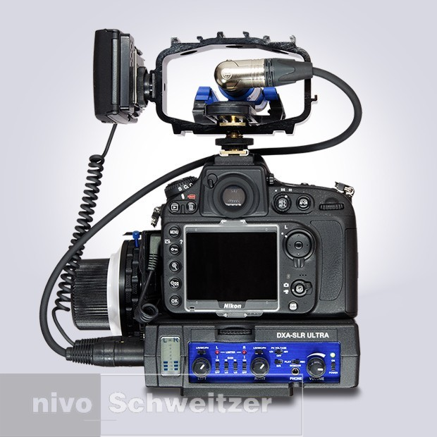 BeachTek DXA-SLR Ultra XLR P DSLR Adapter, pro audio met controle, limiter en monitor functies