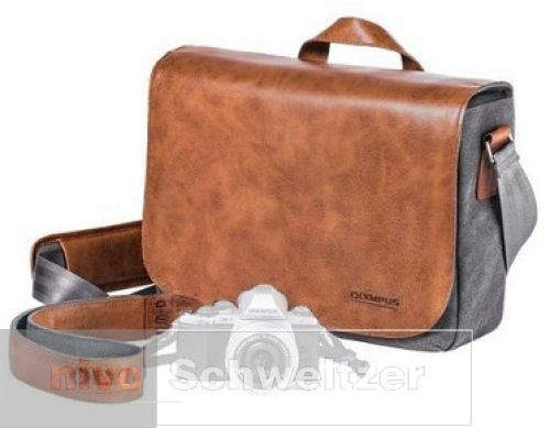 OLYMPUS OM-D Messenger Leather/Canvas Bag [incl. Strap]