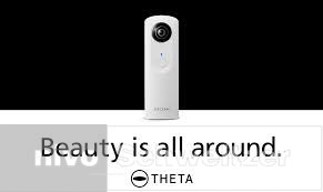 RICOH THETA m 15 Wit voor 360°-fotos en video via WiFi direkt op social media