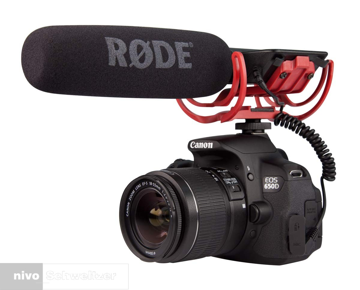 RODE 103287 Videomic met camerabevestiging in Rycote shockmount