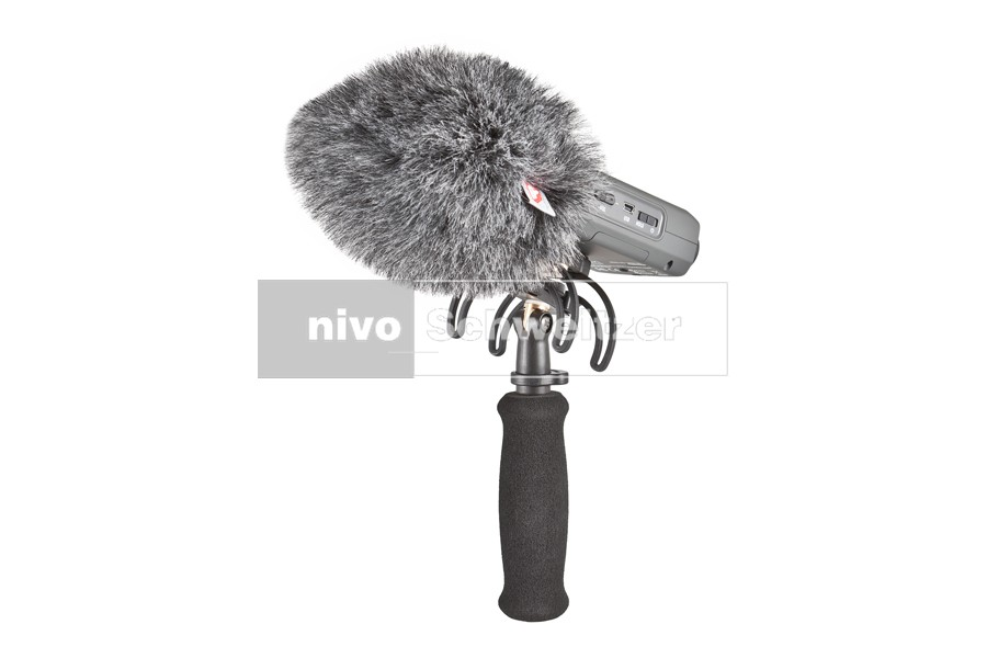 RYCOTE 046001 Zoom H4n Audio kit (portable recorder suspension, grip, hotshoe adapter en windjammer)