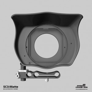 Swedish Chameleon SC3 Matte Box, 15mm rod mount, swing away, 3x 4x4 roterende filter houders