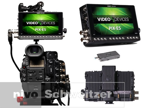 Video Devices PIX-E5 51920x1080/3G-SDi/HDMI/recorder, Apple ProRes 444XQ,  supports 4K 12 bit